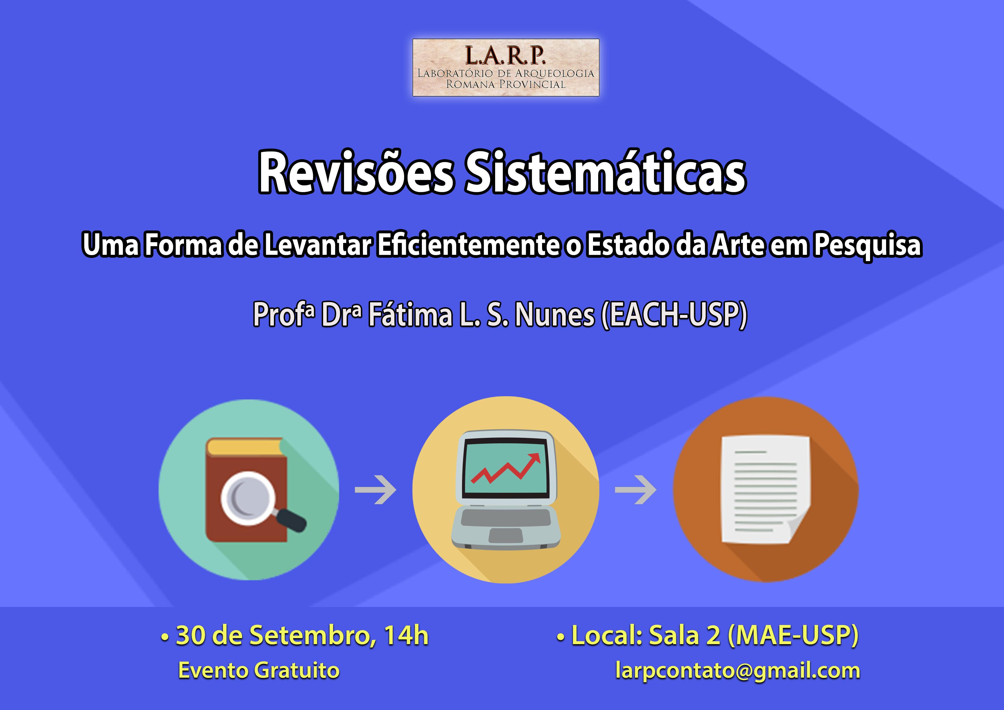 """Vídeo – Palestra – """"Revisões Sistemáticas"""" (30/09/2015 – MAE/USP)"""